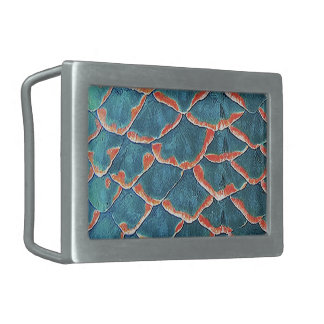 """Fish Scales"" Rectangular Belt Buckle"