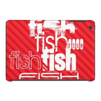 Fish; Scarlet Red Stripes iPad Mini Covers