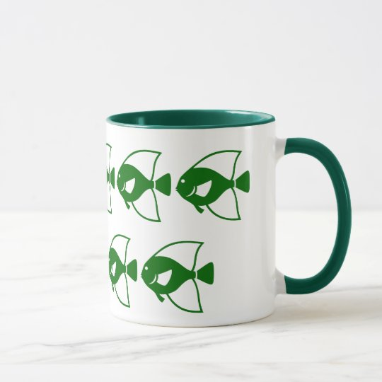 Fish School Ringer Coffee Mug