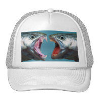 Fish Screaming at Each Other in a Yelling Match Trucker Hats