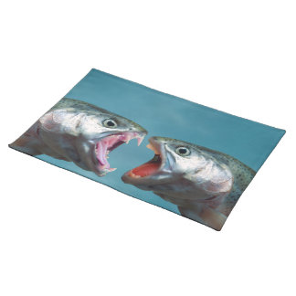 Fish Screaming at Each Other in a Yelling Match Place Mats
