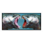 Fish Screaming at Each Other in a Yelling Match Customized Rack Card