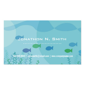 Fish, seaweed, under water graphic professional business card