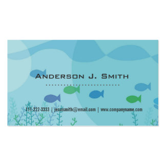 Fish, seaweed, under water graphic professional business cards