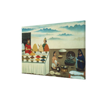 Fish seller, sweetmeat maker and sellers canvas print