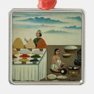 Fish seller, sweetmeat maker and sellers metal ornament
