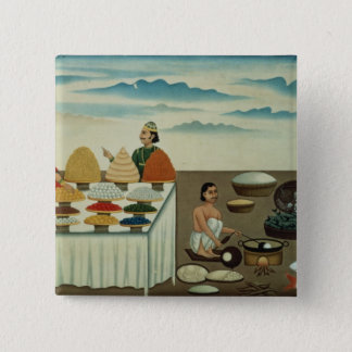 Fish seller, sweetmeat maker and sellers pinback button