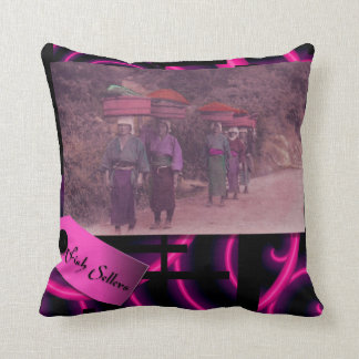 Fish Sellers - Japanese themed pillow