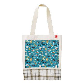 Fish shapes/ Zazzle Heart Tote
