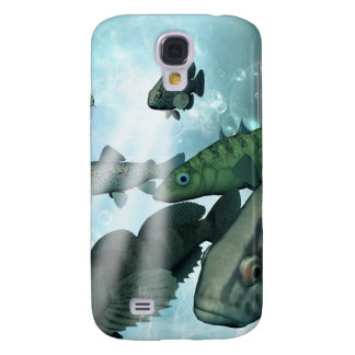 Fish shoal with bubbles and light effects samsung galaxy s4 cover