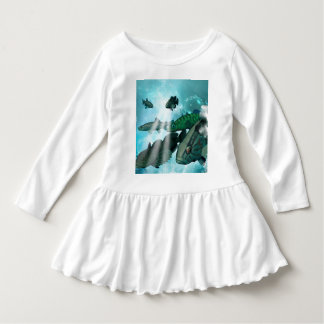 Fish shoal with bubbles dress