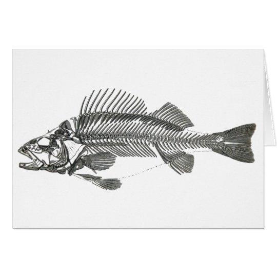 Fish Skeleton Card