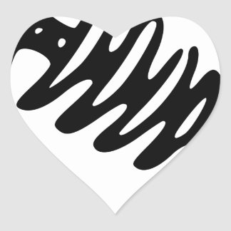 Fish Skeleton Heart Sticker