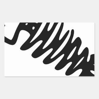 Fish Skeleton Rectangular Sticker