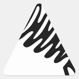 Fish Skeleton Triangle Sticker