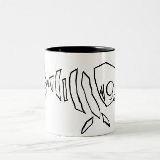 Fish Skeleton Two-Tone Coffee Mug