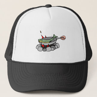 Fish skillet trucker hat