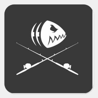 Fish Skull Design Sticker