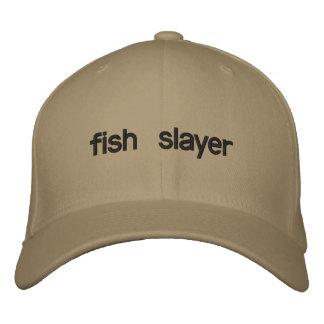 fish slayer embroidered baseball hat