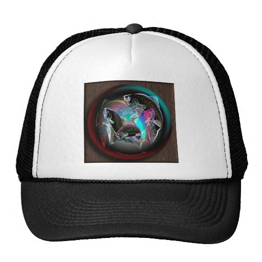 FISH_SPHERE_WOOD MESH HATS