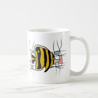 Fish stained glass coffee mugs