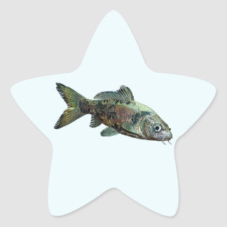 Fish Star Sticker