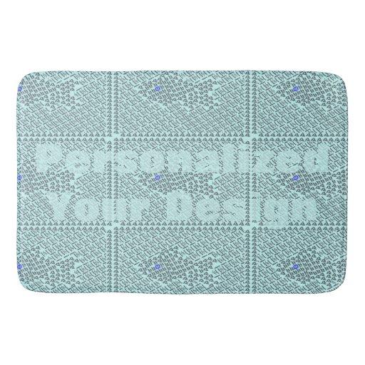 Fish stitch bath mats zazzle for Fish bath mat