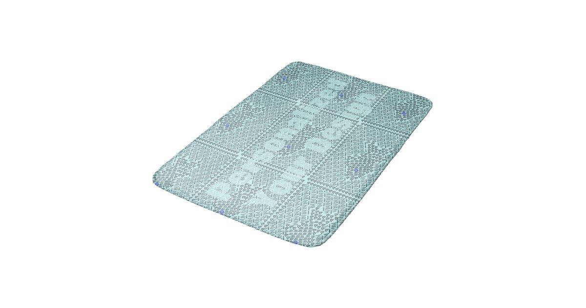 Fish stitch bathroom mat zazzle for Fish bath mat