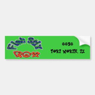 Fish Stix Rox! CCBC Fort Worth, TX Car Bumper Sticker