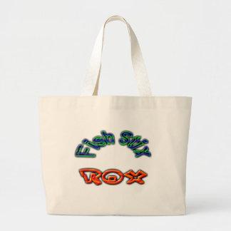 Fish Stix Rox! CCBC Fort Worth, TX Jumbo Tote Bag