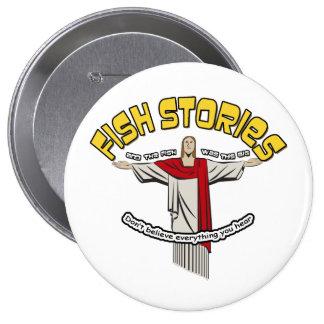 Fish Stories Pinback Button