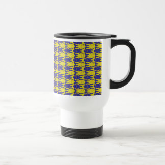 Fish Stripes Pattern Travel Mug