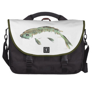 Fish, Sumi-e ink painting in color Commuter Bag