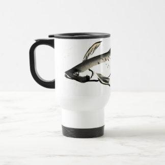 Fish,  Sumi-e [ink painting] Travel Mug