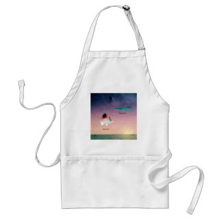 Fish Swim Best Between Night and Day Adult Apron
