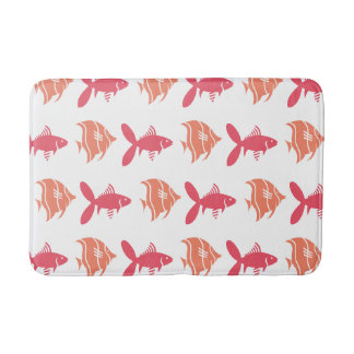 Fish Swimming Graphical Pink Peach on any Color Bath Mat