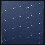 "Fish Swimming in the Deep Blue Sea Cloth Napkin<br><div class=""desc"">Midnight blue background with fun fish swimming merrily.</div>"