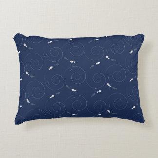 Fish Swimming in the Deep Blue Sea Decorative Pillow