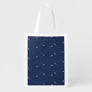 Fish Swimming in the Deep Blue Sea Reusable Grocery Bag
