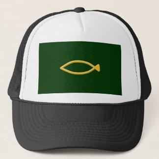 Fish symbol trucker hat