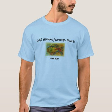 "Beach Themed Fish T-shirt ""Gulf Shores/Orange Beach"" Alabama"