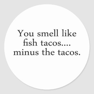Fish Tacos Classic Round Sticker
