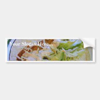 Fish Tacos Food Cabbage Tortillas Bumper Sticker