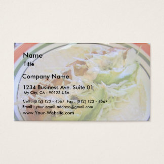 Fish Tacos Food Cabbage Tortillas Business Card