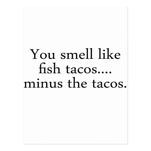 Fish Tacos Post Card