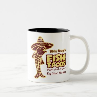 Beach Themed Fish Tacos Two-Tone Coffee Mug