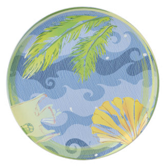 Fish Tail, Seashell, and Seaweed Dinner Plates