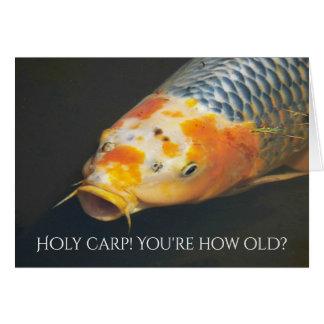 Fish Tale Carp Photo Funny Birthday Card