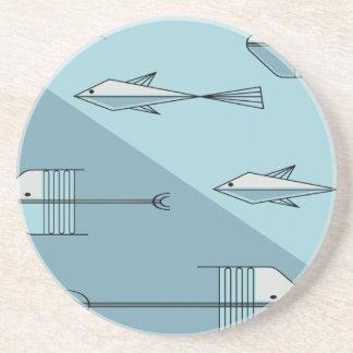 "FISH TALE Coaster 4.5"" AQUA"