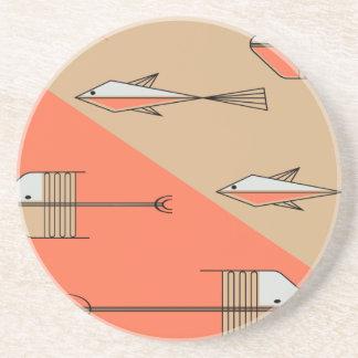 "FISH TALE Coaster 4.5"" CORAL-SAND"